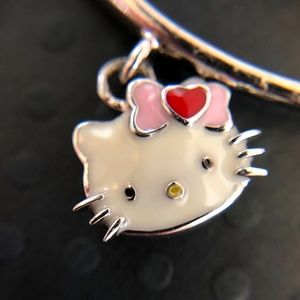 "Hello Kitty Sterling Bangle ""Heart Bow Kitty"""
